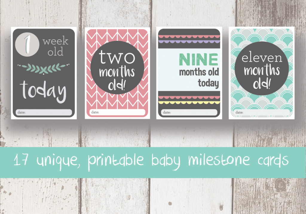 Baby milestone cards (mixed)