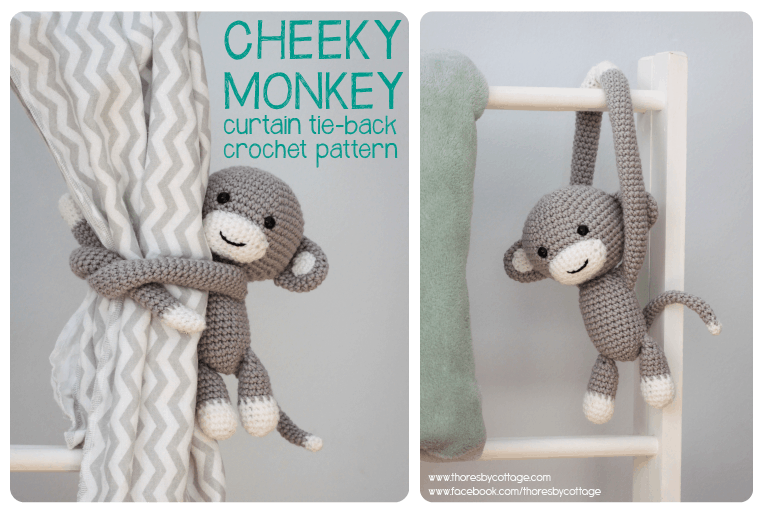 Crochet Monkey Curtain Tie Back Crochet Pattern Thoresby Cottage