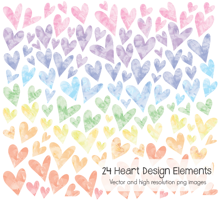 Heart design elements