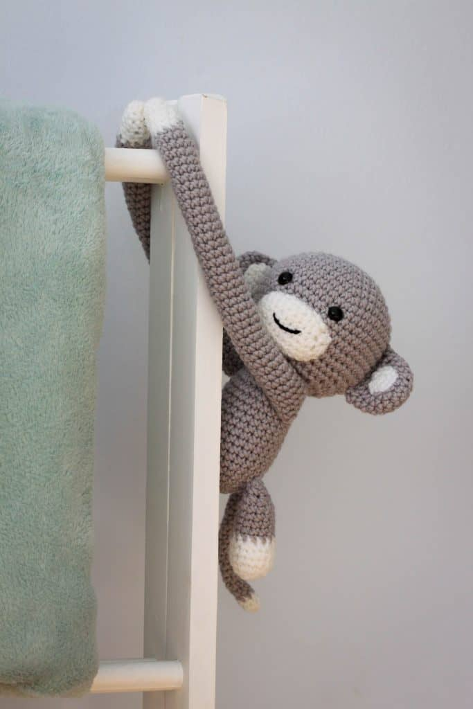 Cheeky monkey curtain tie back