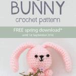 crochet spring bunny