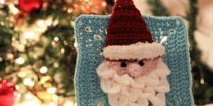 crochet santa granny square