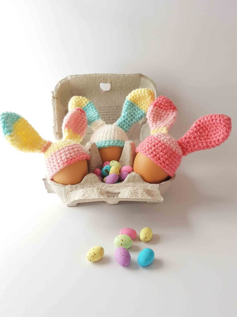Free Egg Cosy Crochet Pattern Easter Bunny Ears Thoresby Cottage