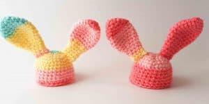 Bunny ears egg cosy crochet pattern