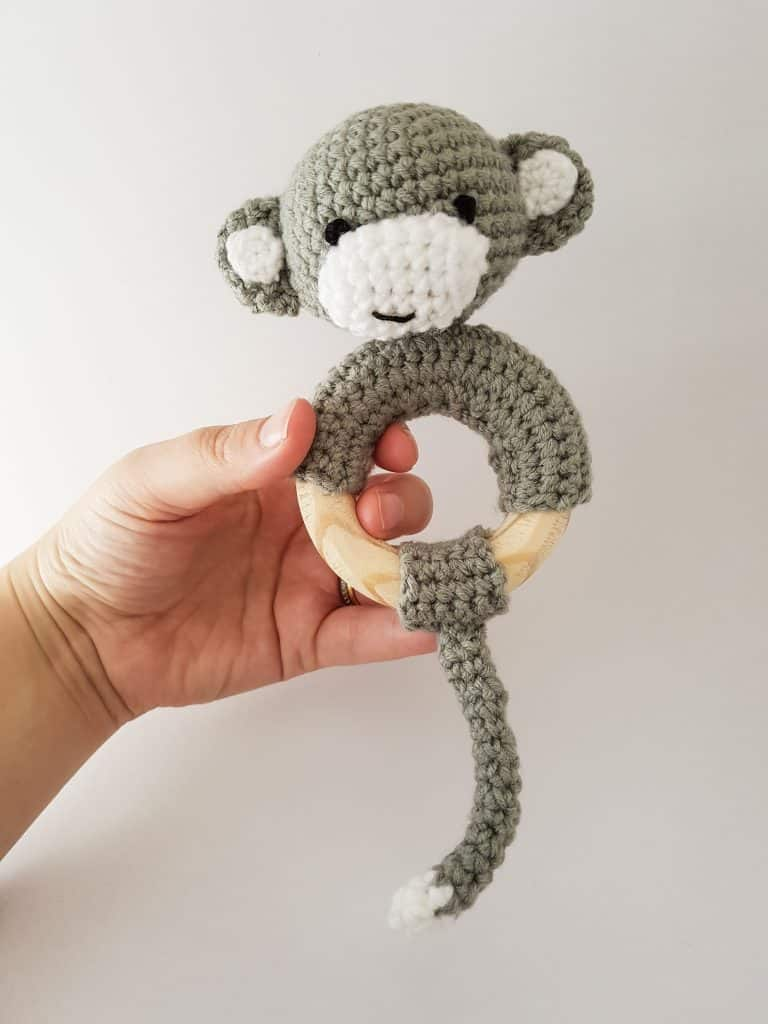 Cheeky Monkey Rattle Teether Crochet Pattern Thoresby