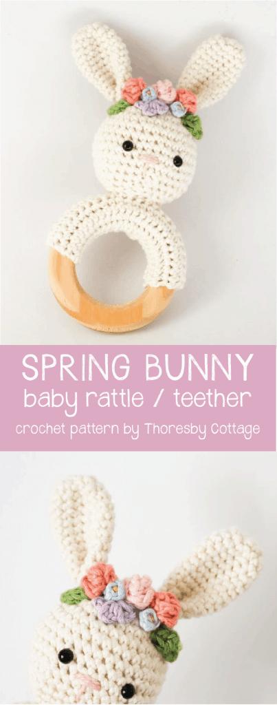 Crochet Amigurumi Teddy Bear Baby Rattle Pattern / PDF Baby | Etsy | 1024x403