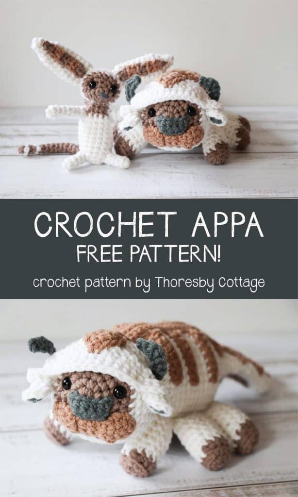 Crochet Appa Pattern Free Avatar The Last Airbender