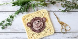 Crochet monkey square