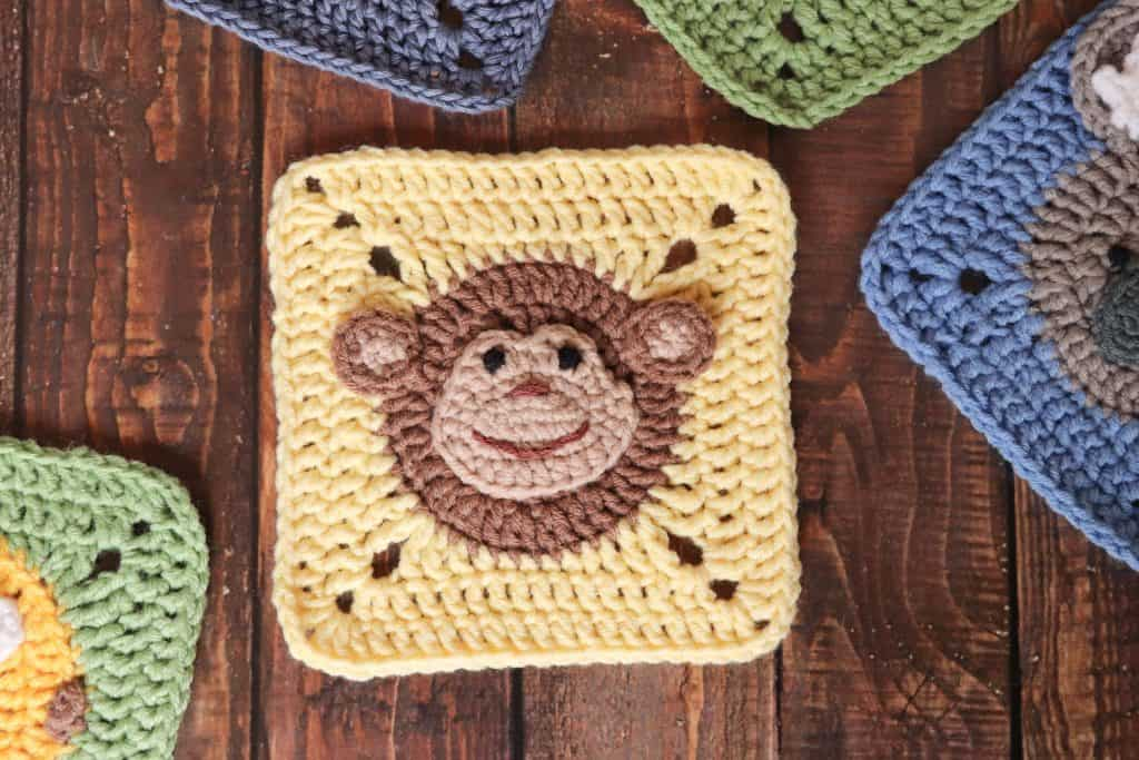 Crochet Monkey Square Pattern Animal Square Thoresby
