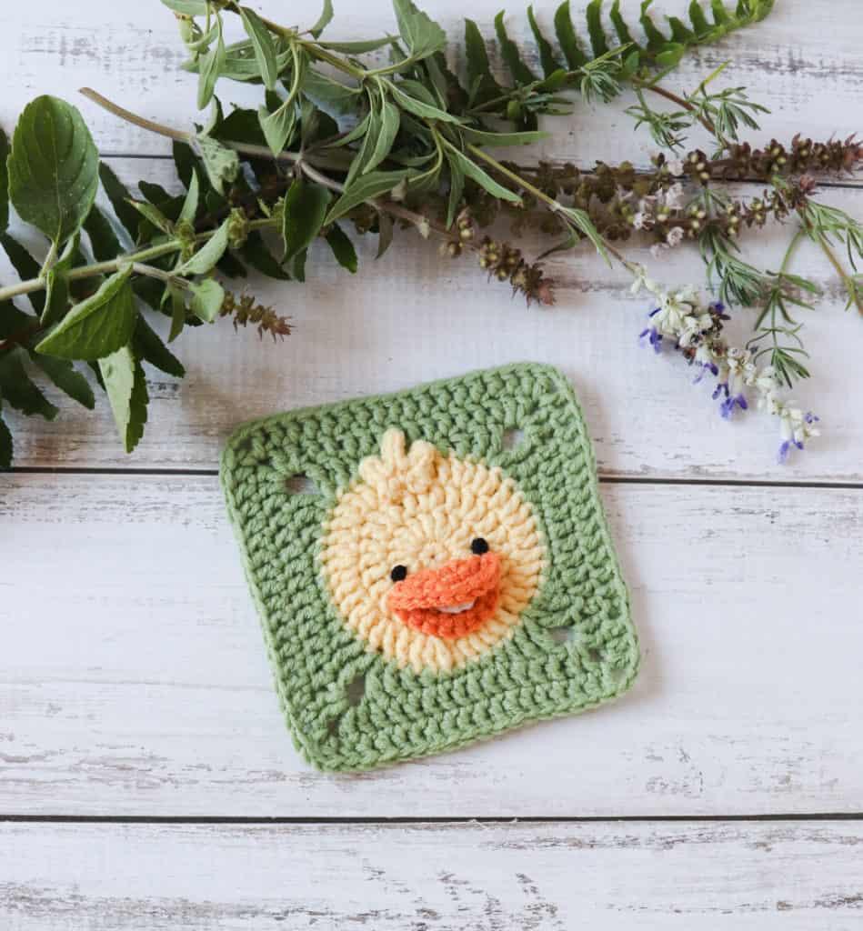 crochet duck square pattern
