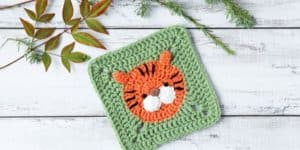 crochet tiger square pattern