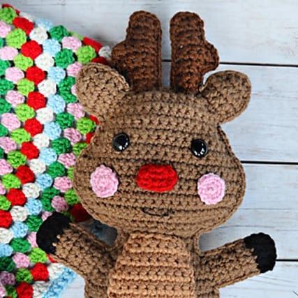 crochet reindeer kawaai cuddler