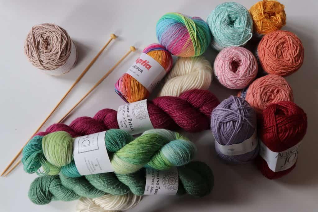 Yarn gift for crocheters, lots of colorful yarn