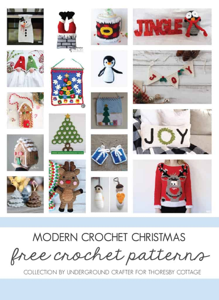Modern Christmas crochet patterns