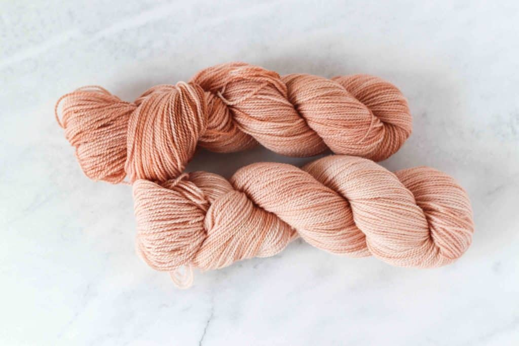 yarn dyed with avocado skins