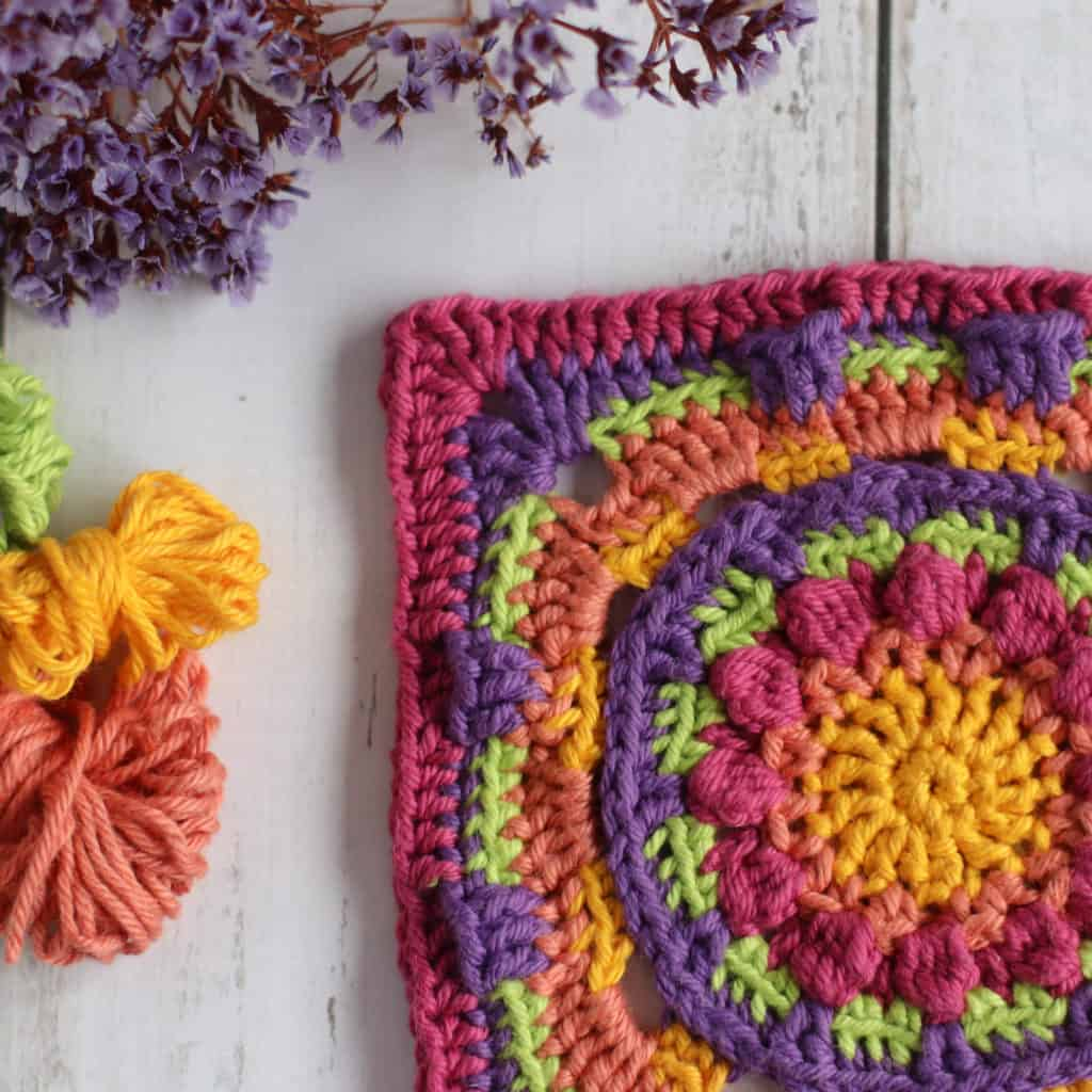 Free crochet granny square pattern for the namaqualand granny square.