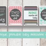 Baby milestone cards (mixed)