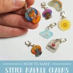 upcycled stitch marker charm